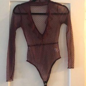 Never worn Nasty gal mesh top!!